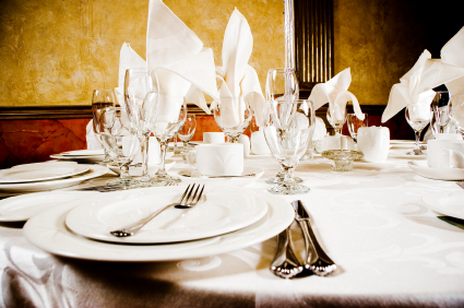 dish, glassware and flatware rentals